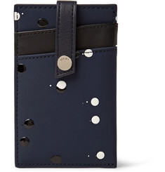 WANT Les Essentiels de la Vie Kennedy Embellished Coated Leather Cardholder