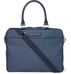 WANT Les Essentiels - Haneda 15 Leather-Trimmed Canvas Briefcase