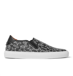 Givenchy Star-Print Textured-Leather Slip-On Sneakers