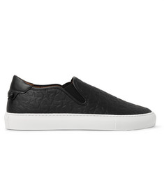 Givenchy Star-Embossed Leather Slip-On Sneakers