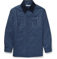 Givenchy Corduroy-Collar Cotton-Canvas Jacket
