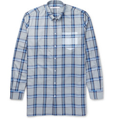 Givenchy Columbian-Fit Button-Down Collar Checked Cotton Shirt