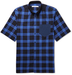 Givenchy - Cuban-Fit Button-Down Collar Checked Cotton Shirt