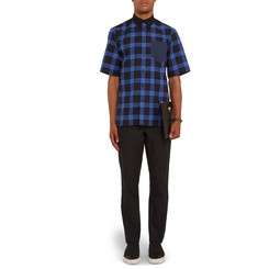 Givenchy Cuban-Fit Button-Down Collar Checked Cotton Shirt