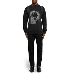 Givenchy Cuban-Fit Printed Fleece-Back Cotton-Jersey Sweatshirt