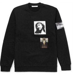Givenchy - Patch-Embellished Cotton-Jersey Sweatshirt