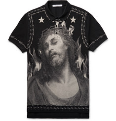 Givenchy Printed Cotton-Piqué Polo Shirt
