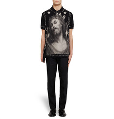 Givenchy - Printed Cotton-Piqué Polo Shirt