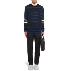 Givenchy Striped Knitted Cotton Sweater