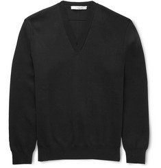 Givenchy - Knitted Cotton V-Neck Sweater