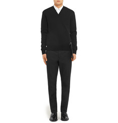 Givenchy Knitted Cotton V-Neck Sweater