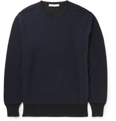 Givenchy - Slim-Fit Mesh-Effect Cotton-Blend Sweater