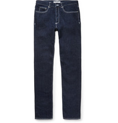 Givenchy - Cuban-Fit Leather-Trimmed Denim Jeans