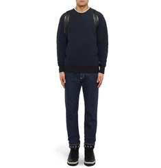 Givenchy Cuban-Fit Leather-Trimmed Denim Jeans