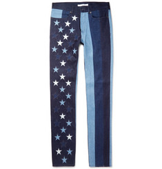 Givenchy Cuban-Fit Stars and Stripes Denim Jeans