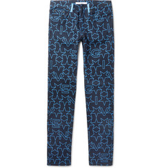 Givenchy Cuban-Fit Star-Print Denim Jeans