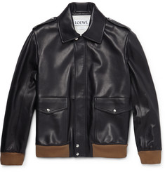 Loewe - Leather Bomber Jacket