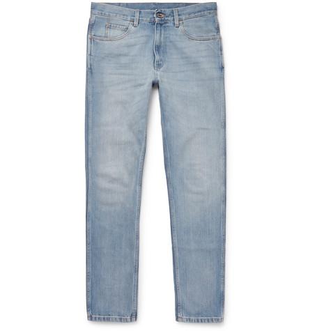 gucci male 201920 gucci slimfit denim jeans blue