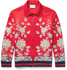 Gucci - Embroidered Tech-Jersey Jacket
