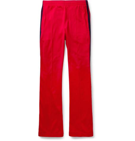 gucci male 250960 gucci striped techjersey sweatpants red