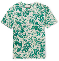 Gucci - Slim-Fit Floral-Print Cotton T-Shirt