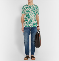 Gucci Slim-Fit Floral-Print Cotton T-Shirt