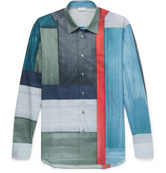 Brioni Colour-Block Cotton Shirt