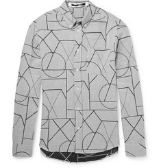 McQ Alexander McQueen - Slim-Fit Printed Cotton and Linen-Blend Shirt