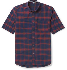 McQ Alexander McQueen - Slim-Fit Button-Down Collar Checked Cotton Shirt