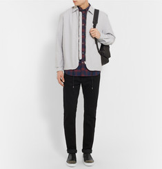 McQ Alexander McQueen Slim-Fit Button-Down Collar Checked Cotton Shirt
