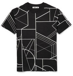 McQ Alexander McQueen Printed Drop-Shoulder Cotton T-Shirt