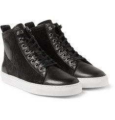 McQ Alexander McQueen - Chris Leather and Suede High-Top Sneakers