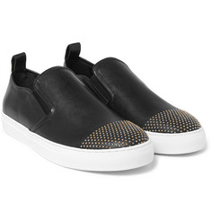 McQ Alexander McQueen - Chris Studded Leather Slip-On Sneakers