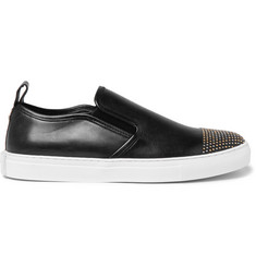 McQ Alexander McQueen Chris Studded Leather Slip-On Sneakers