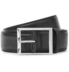 Berluti - 3.5cm Midnight-Blue Leather Belt