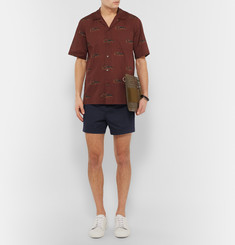 Acne Studios Seymour Satin Cotton-Blend Chino Shorts