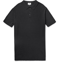 Acne Studios Koin Knitted Cotton Polo Shirt