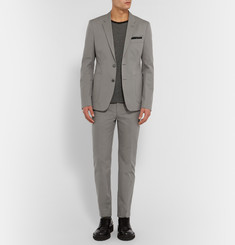 Acne Studios Grey Stan Slim-Fit Cotton-Twill Blazer