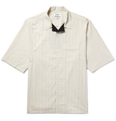 Acne Studios Solo Camp-Collar Checked Cotton-Poplin Shirt