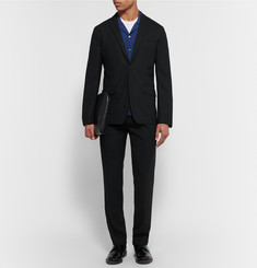 Acne Studios Black Jack Travel Slim-Fit Wool-Piqué Blazer