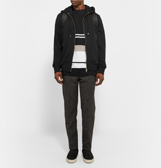 Acne Studios Johna Zip-Up Loopback Cotton-Jersey Hoodie