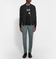 Acne Studios College Journey Loopback Cotton-Jersey Sweatshirt