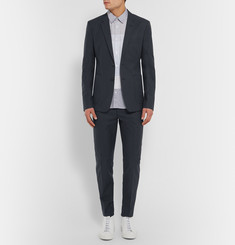 Acne Studios Navy Stan Slim-Fit Cotton-Twill Trousers