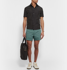 Acne Studios Seymour Satin Slim-Fit Stretch-Cotton Chino Shorts