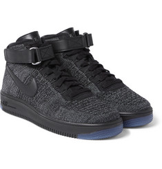 Nike - Air Force 1 Flyknit Mesh High-Top Sneakers