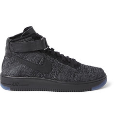 Nike Air Force 1 Flyknit Mesh High-Top Sneakers