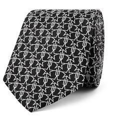 Givenchy - Star-Patterned Silk-Jacquard Tie