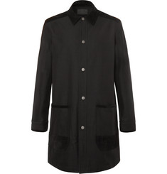 Alexander Wang Suede-Trimmed Canvas Overcoat
