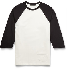 Alexander Wang Two-Tone Cotton-Jersey Raglan T-Shirt