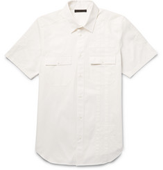 Alexander Wang Appliquéd Cotton-Twill Shirt